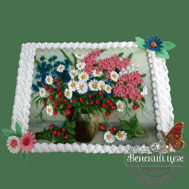 """Торт индивидуальный """"Летний букет"""" №124"""
