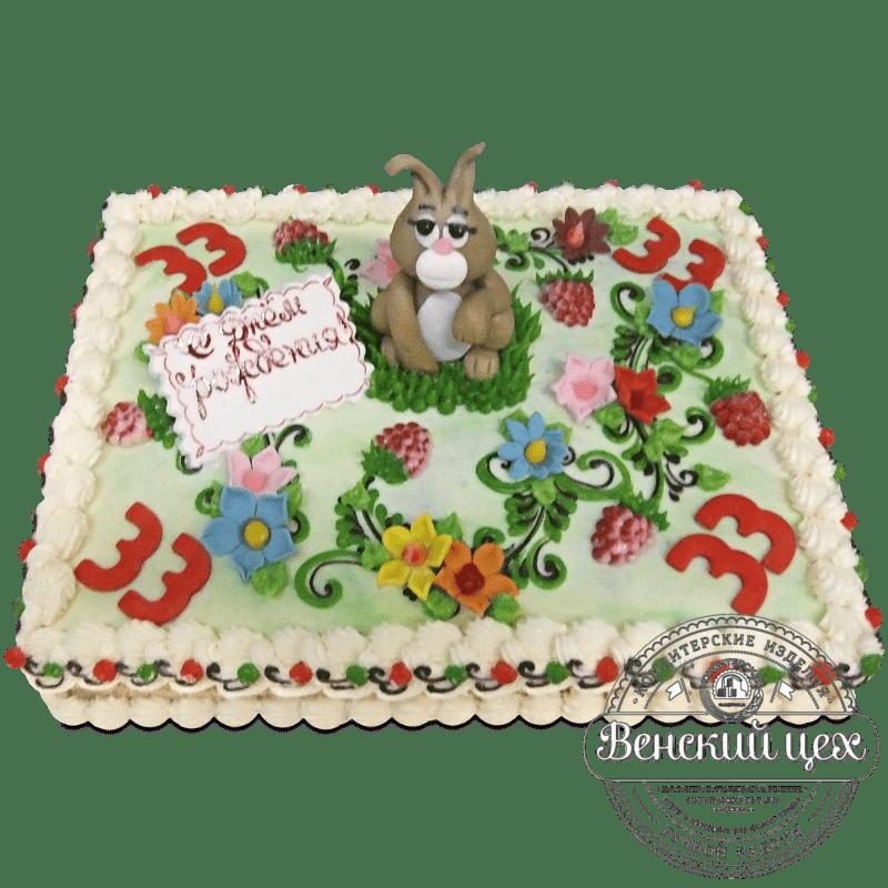"""Торт детский """"Заинька в лесу"""" №1247"""