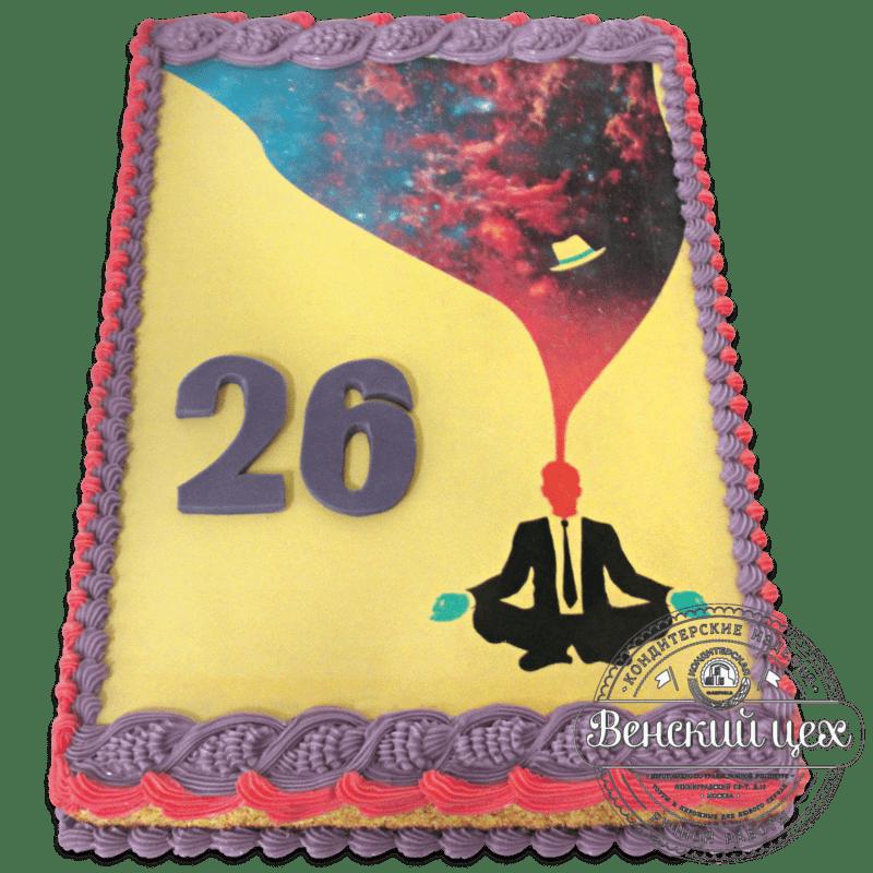 """Торт на день рождения """"Связь с космосом"""" №1256"""