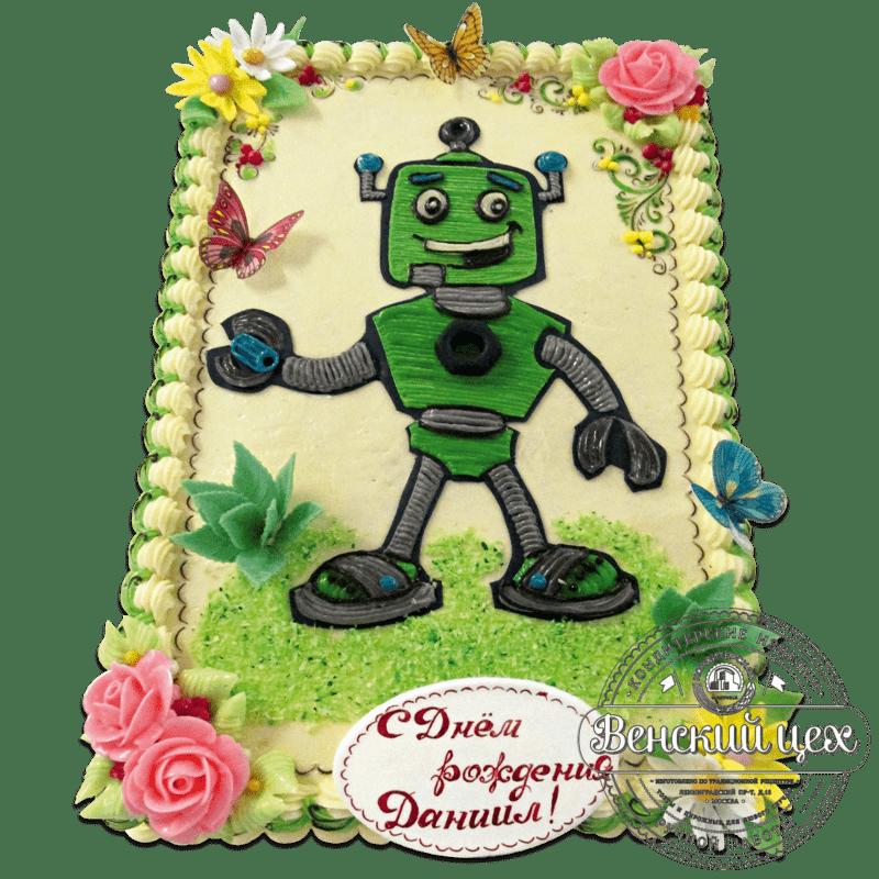 """Торт  детский """"Робот"""" № 1259"""