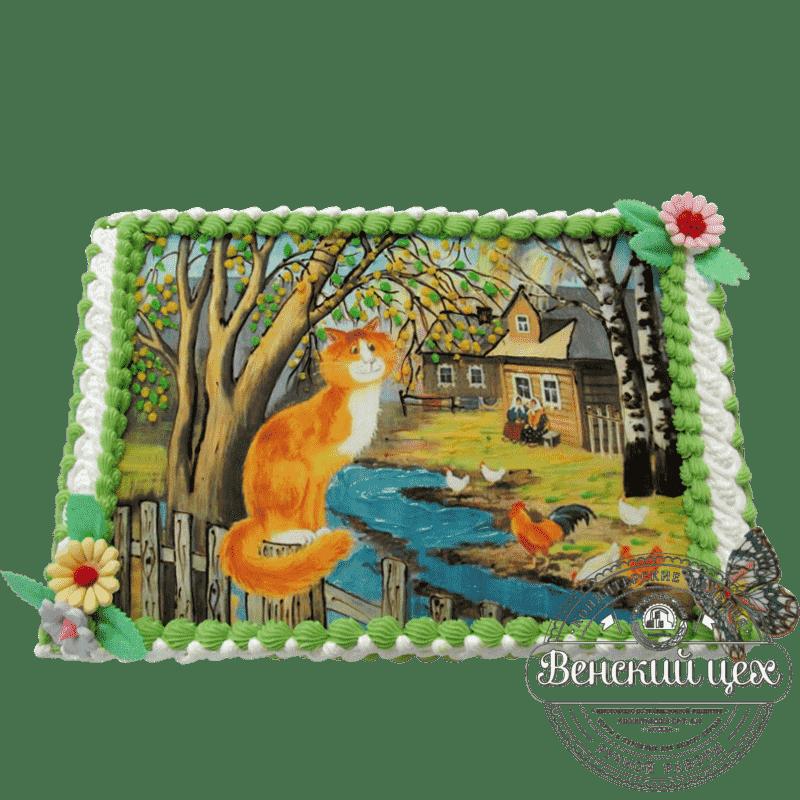 Праздничный торт «Мартовский кот» №126