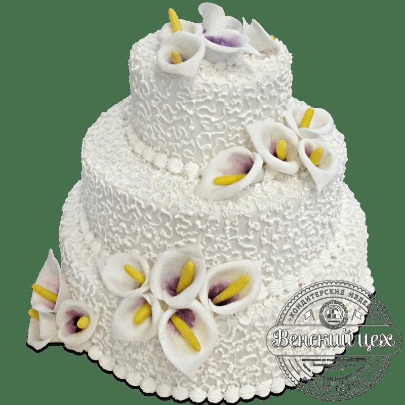 "Торт свадебный ""Каллы"" №1277"