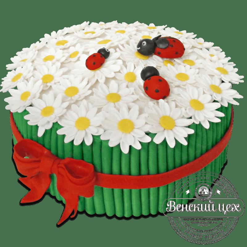 """Торт на день рождения """"Букет из ромашек"""" №1282"""