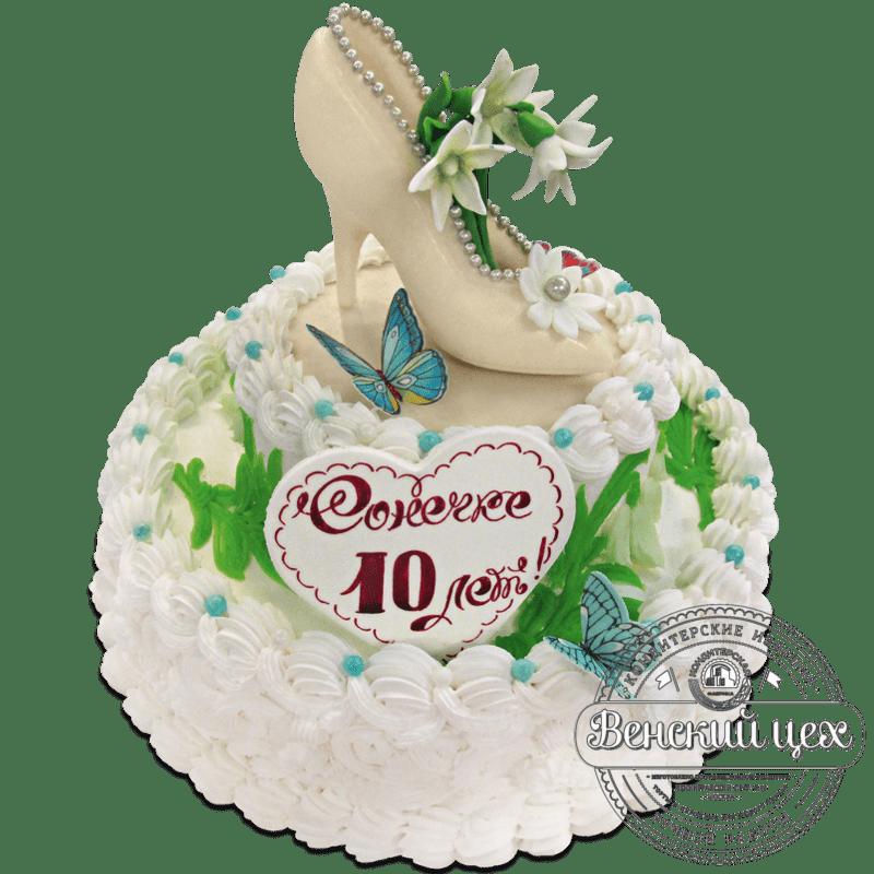 """Торт на день рождения """"Подснежники"""" №1285"""