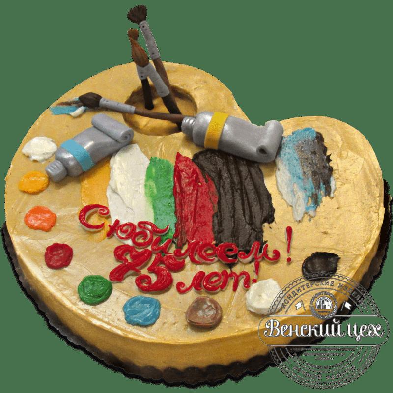 """Торт на день рождения """"Художественная палитра"""" №1289"""