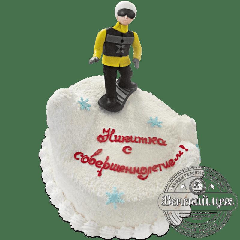 """Торт на день рождения """"Сноубордист"""" №1293"""
