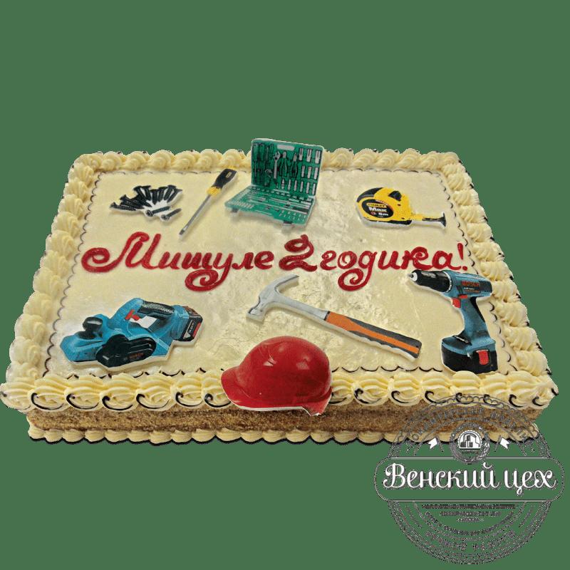 """Торт на день рождения """"Строитель"""" №1297"""