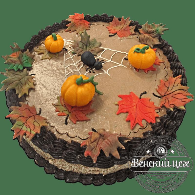 """Торт на день рождения """"Осенний"""" №1299"""