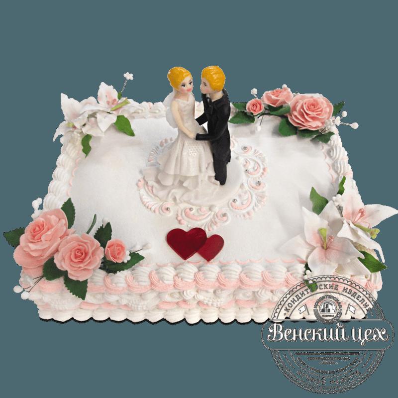 """Торт свадебный """"Белый танец"""" №1303"""