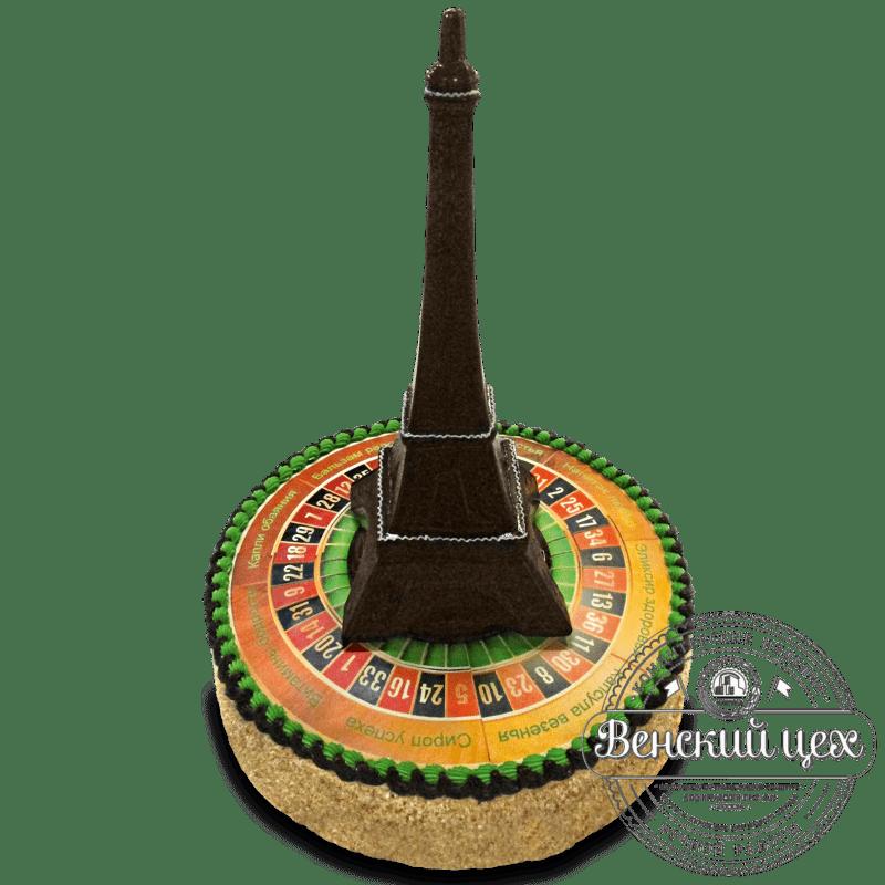 """Торт на день рождения """"Парижская рулетка"""" №1319"""