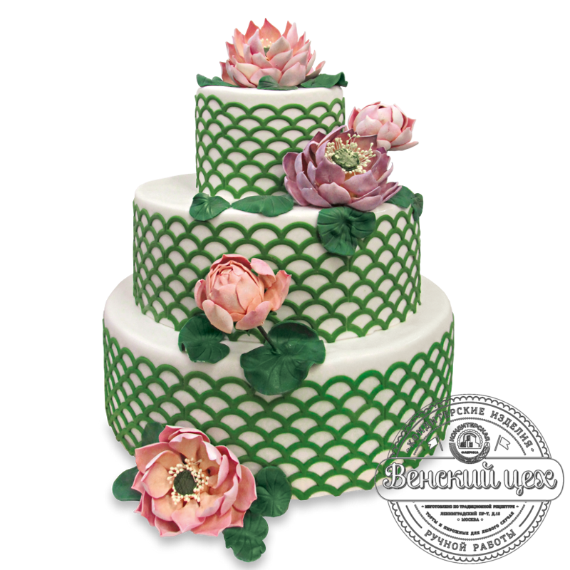Торт свадебный №1325