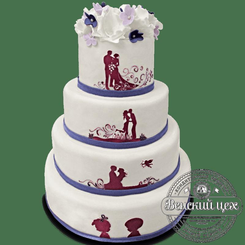 Торт на свадьбу  №1327