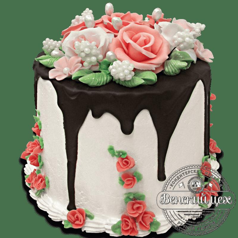"""Торт свадебный """"Английский"""" №1329"""