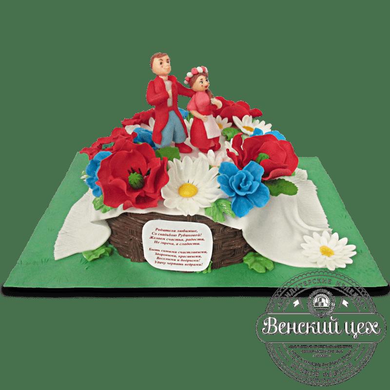 Торт свадебный №1330