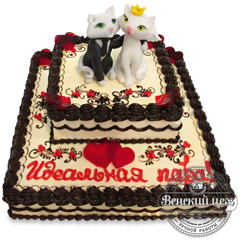 """Торт свадебный """"Мур-мур"""" №1333"""