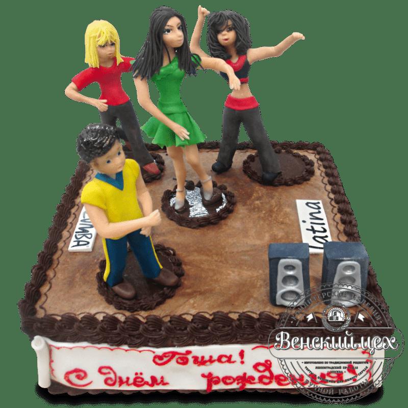 """Торт на день рождения """"Тусовка"""" №1335"""