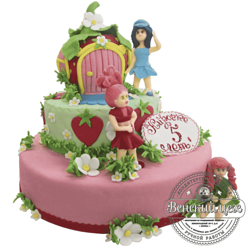 """Торт детский для девочки """"Кукольное царство"""" №135"""