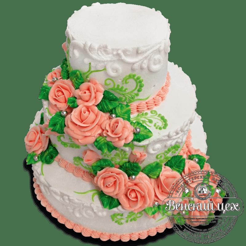 Торт свадебный №1352