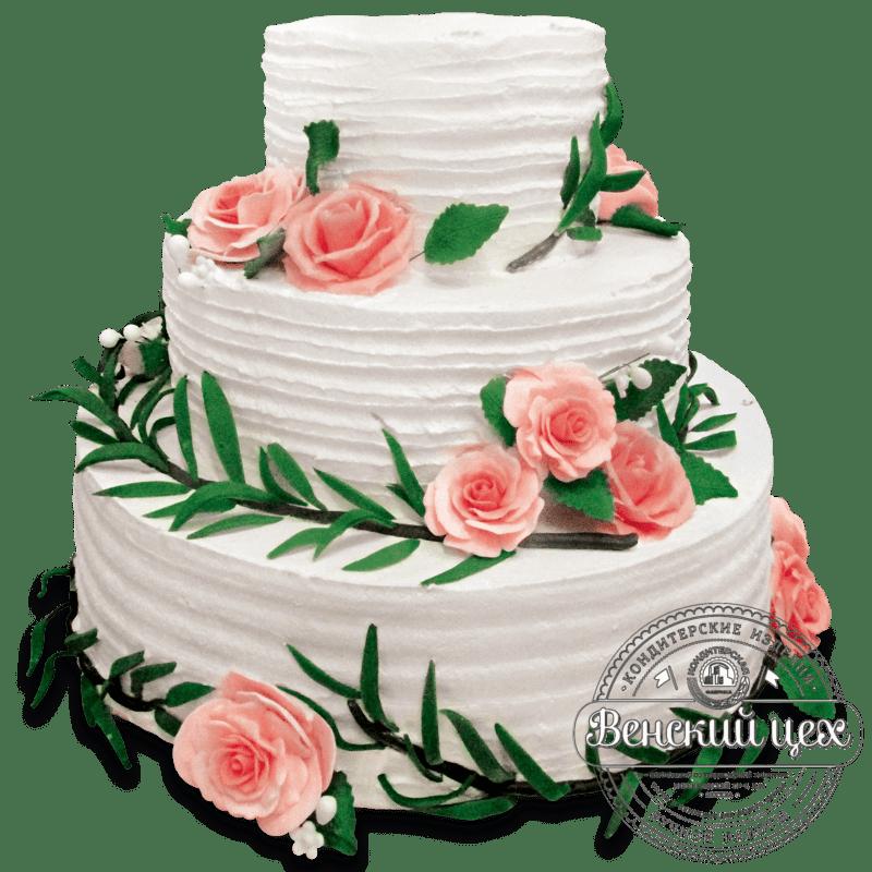Торт свадебный №1354