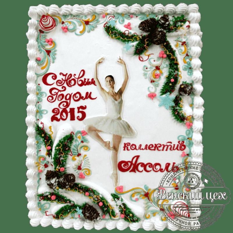 Торт на корпоратив «На новогодней Ёлке шишки да иголки» №136