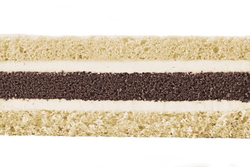 Сочетание шоколадного и классического бисквитов  со сливочным кремом