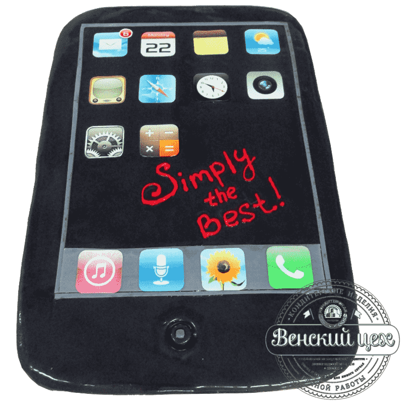 """Торт детский на день рождения """"iPhone"""" №14"""