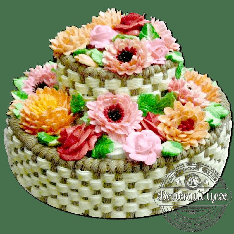 """Торт на юбилей """"Цветочное царство"""" №140"""
