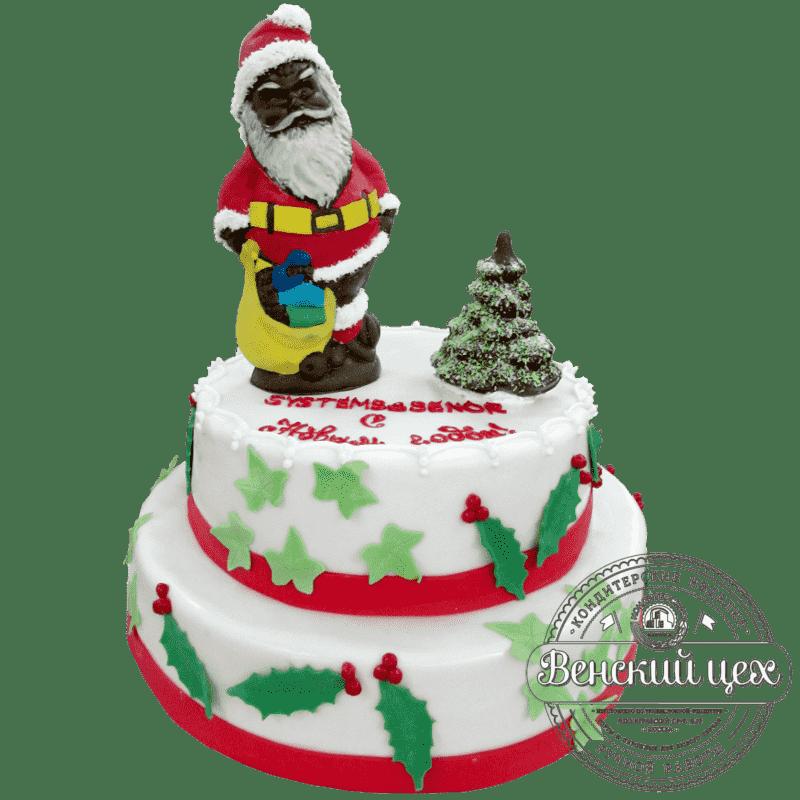 Торт на корпоратив «Подарки от Деда Мороза» №144