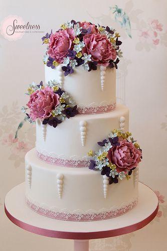 Торт свадебный  № 1449