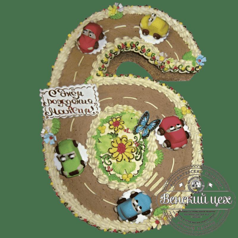 """Торт детский """"Гоночная трасса"""" №145"""
