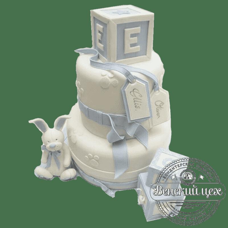 """Торт детский на 1 годик """"Кубики"""" №148"""