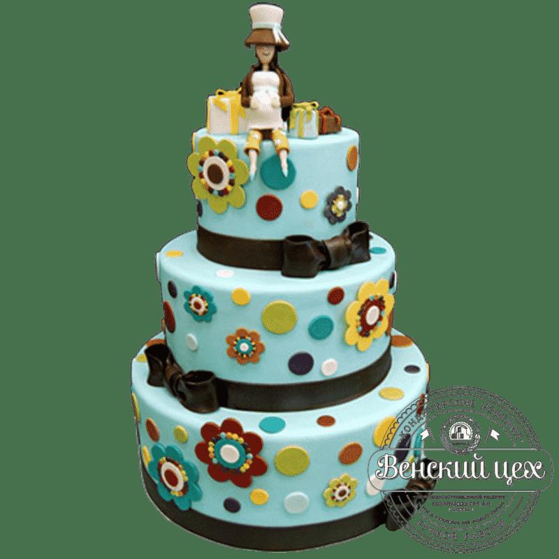 "Торт детский на 1 годик ""В ожидании чуда"" №149"