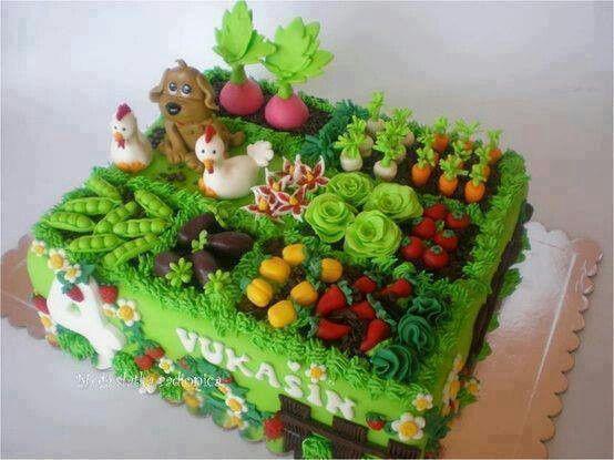 """Торт на день рождения """"Ферма"""" №1561"""