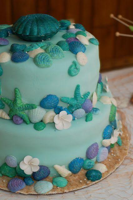 """Торт на день рождения """"Морской"""" №1586"""