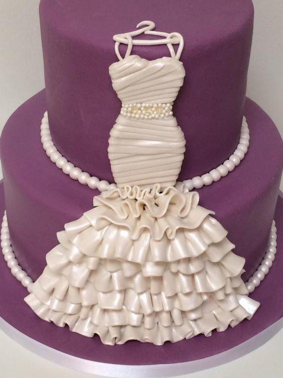 """Торт сваденбый """"Платье невесты"""" №1595"""