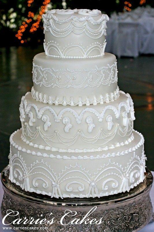 Торт свадебный №1605