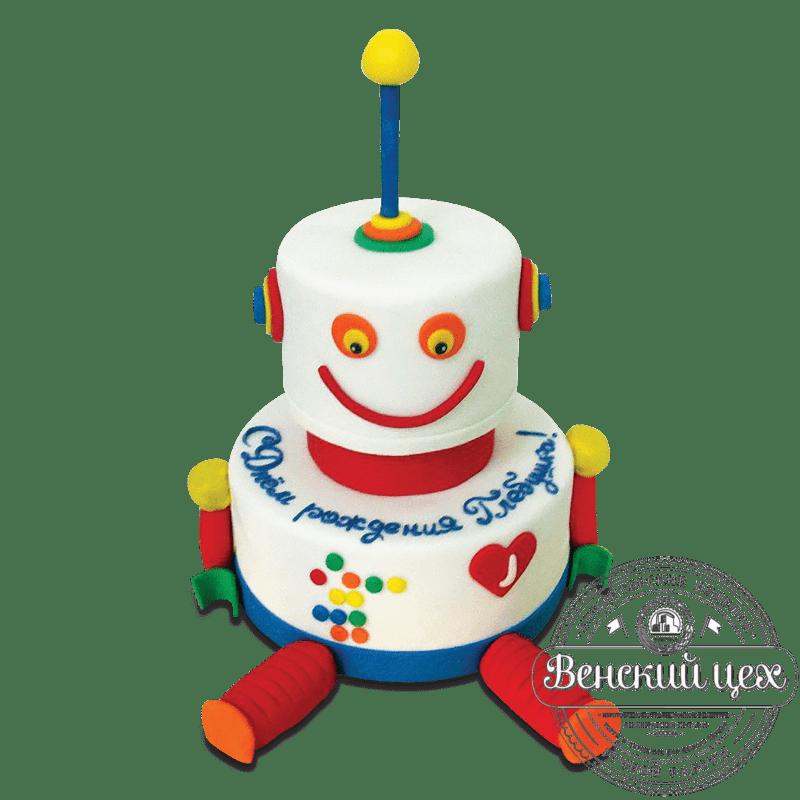 """Торт детский """"Робот улыбается"""" №1617"""