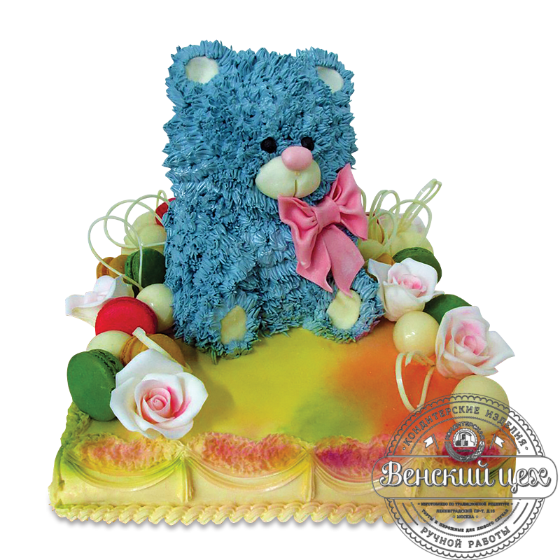 """Торт детский """"Синий мишка"""" №1619"""