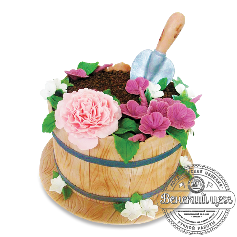 """Торт на день рождения """"Садоводу"""" №1624"""