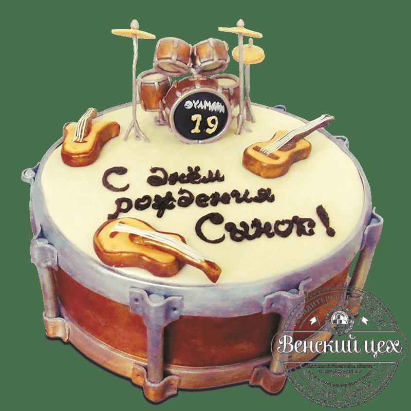 """Торт на день рождения """"Весь этот джаз"""" №1625"""