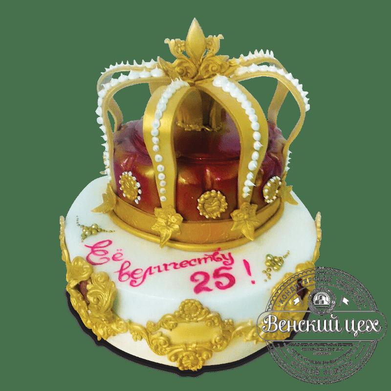 """Торт на день рождения """"Её Величеству"""" №1626"""