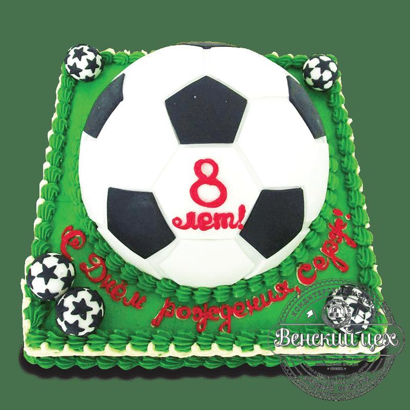 """Торт на день рождения """"Футбольный мяч"""" №1632"""