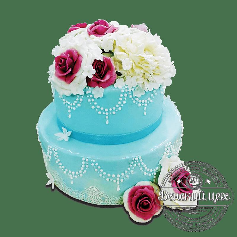 """Торт свадебный """"Роза восхищения"""" №1635"""