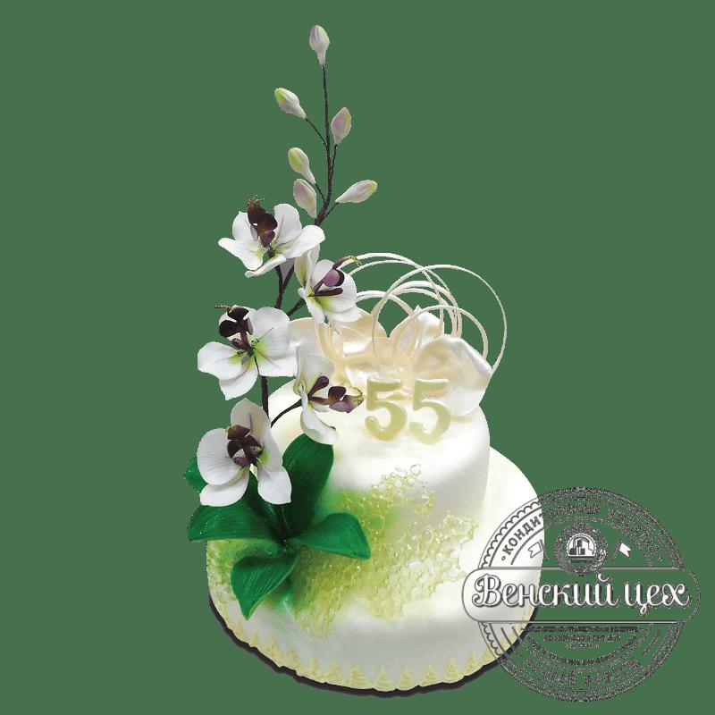 """Торт на день рождения """"Орхидея"""" №1639"""