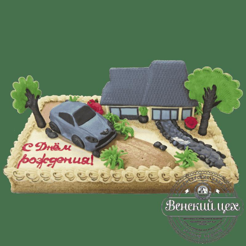"""Торт на день рождения """"Выходной на даче"""" №165"""