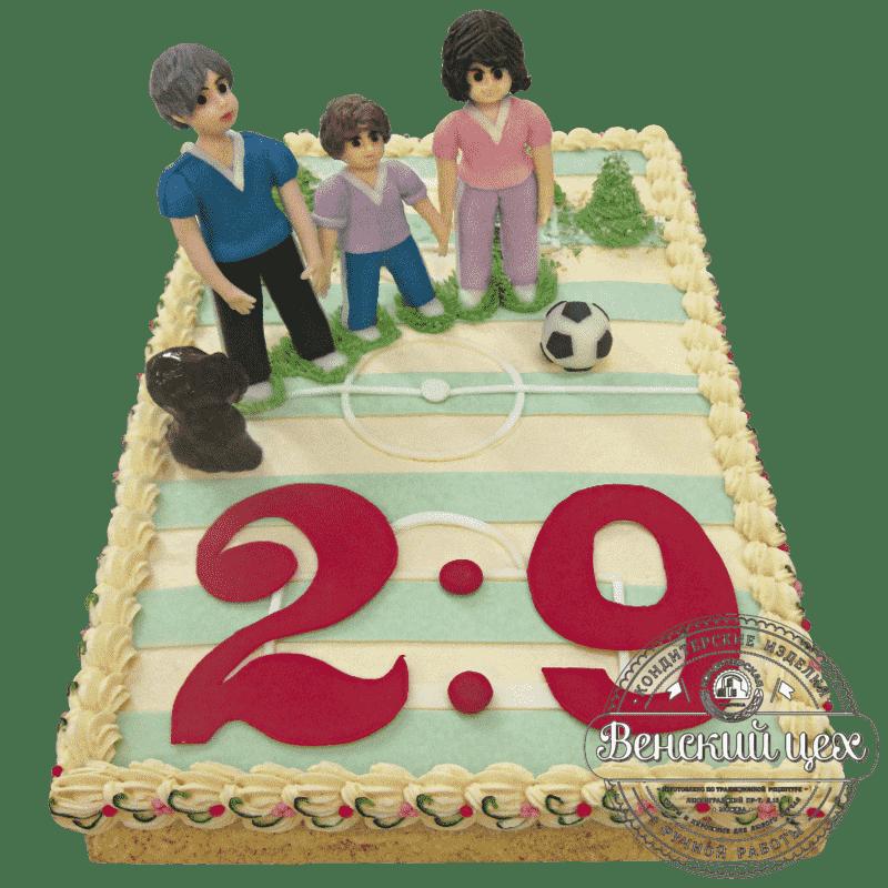 """Торт на день рождения """"Спортивная семья"""" №166"""