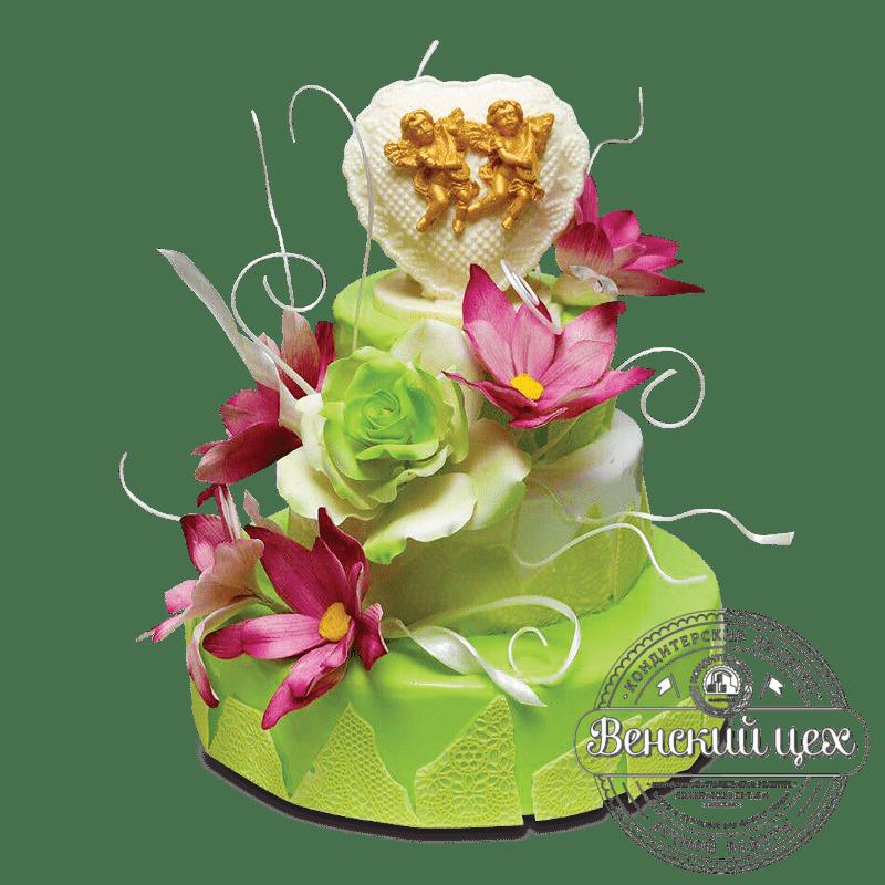 Торт свадебный №1664