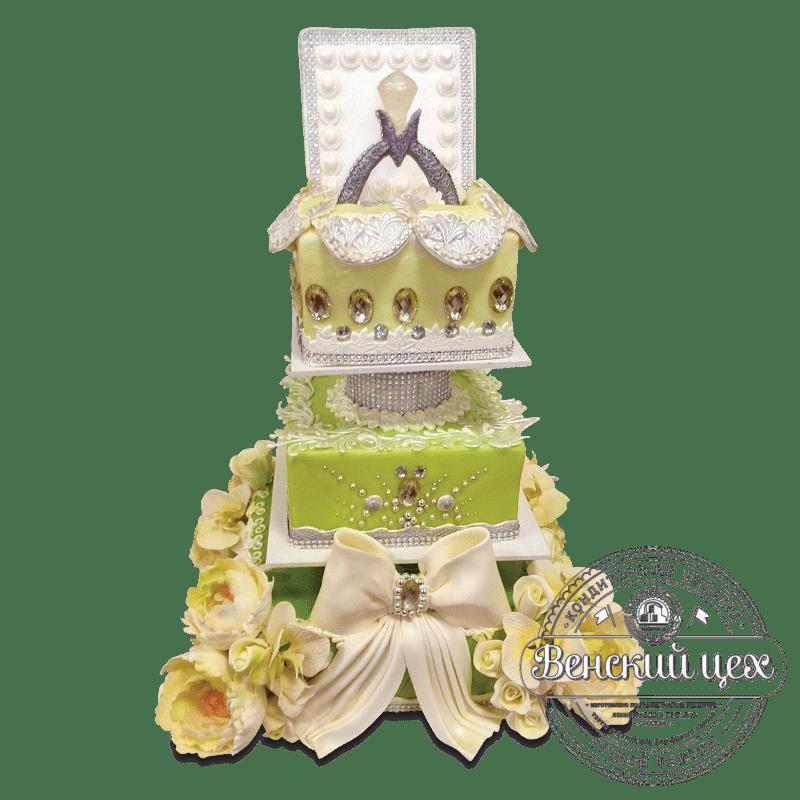 Торт свадебный №1665