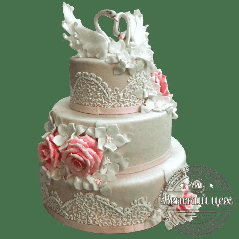 """Торт на свадьбу """"Нежность"""" №168"""