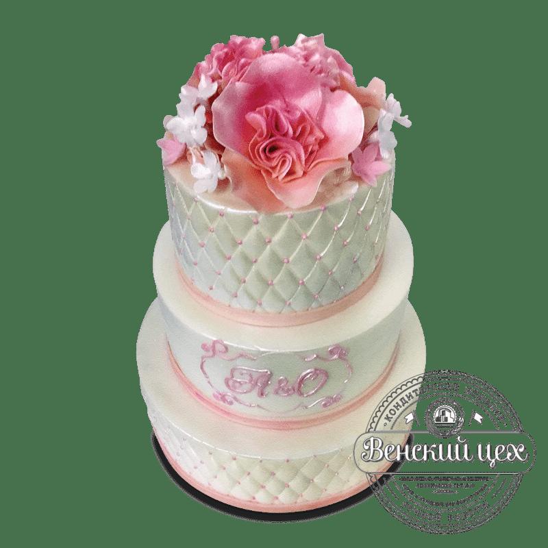 Торт свадебный №1688